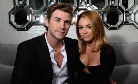 Liam Hemsworth & Miley Cyrus in 2012