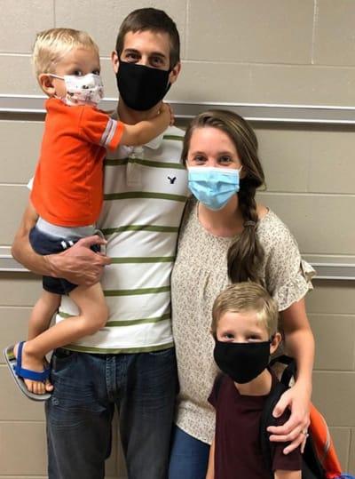 Jill Duggar and Husband in Masks