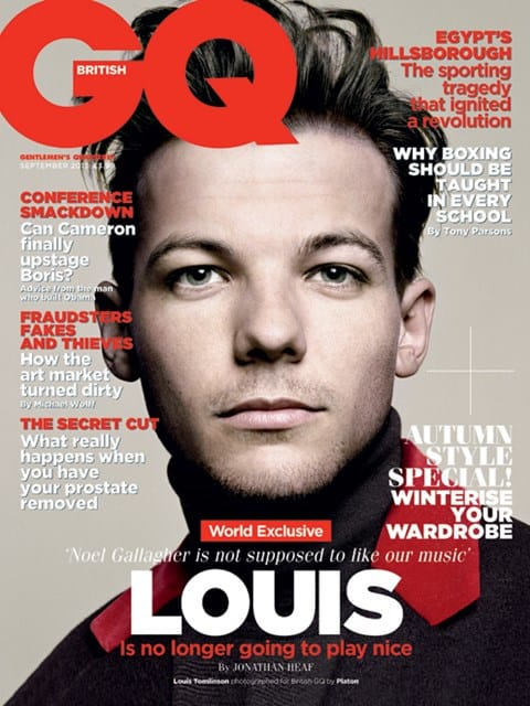 Louis Tomlinson GQ Cover