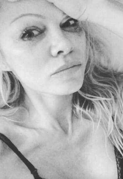 Pamela Anderson Cries