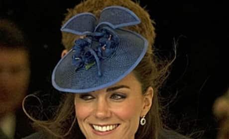 Kate Middleton, Blue Hat