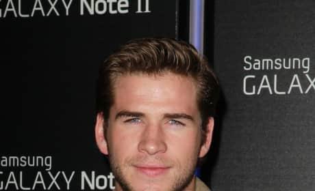 Liam Hemsworth Smirking