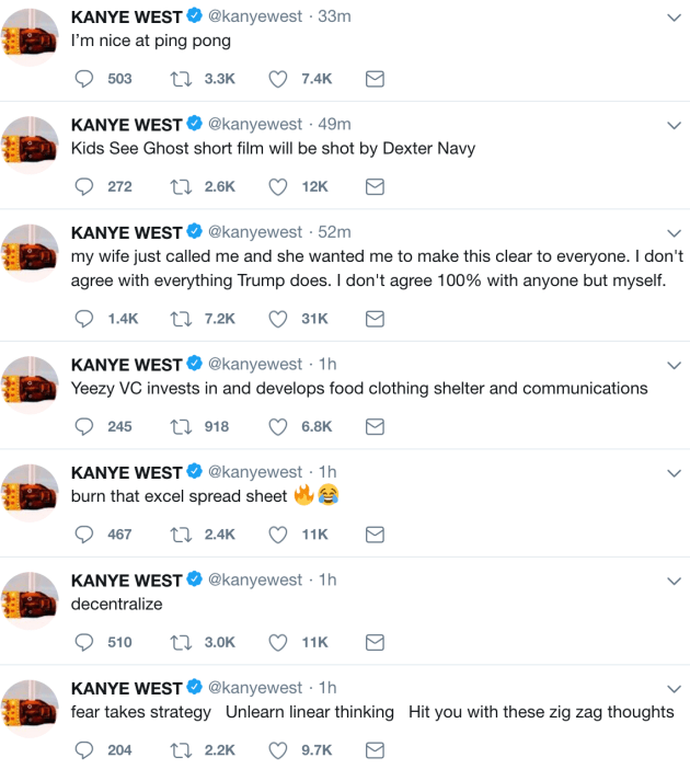 b2d38d9c8 Kanye West Compares Himself and Donald Trump to Dragons, Says He's
