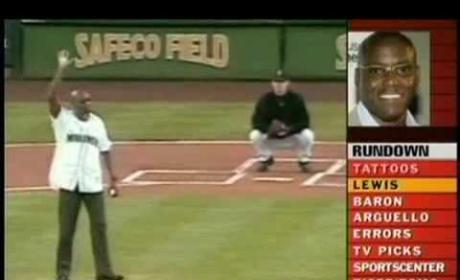 Carl Lewis First Pitch