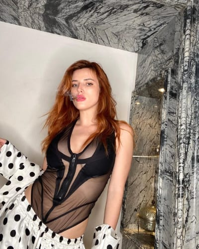 Bella Thorne is mostly see-through