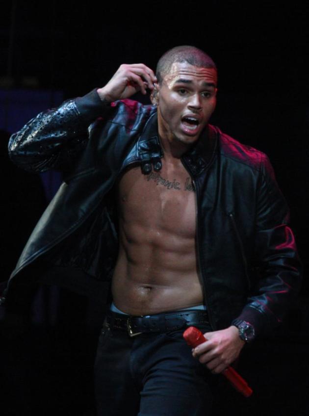 Chris Brown Shirtless (Almost)
