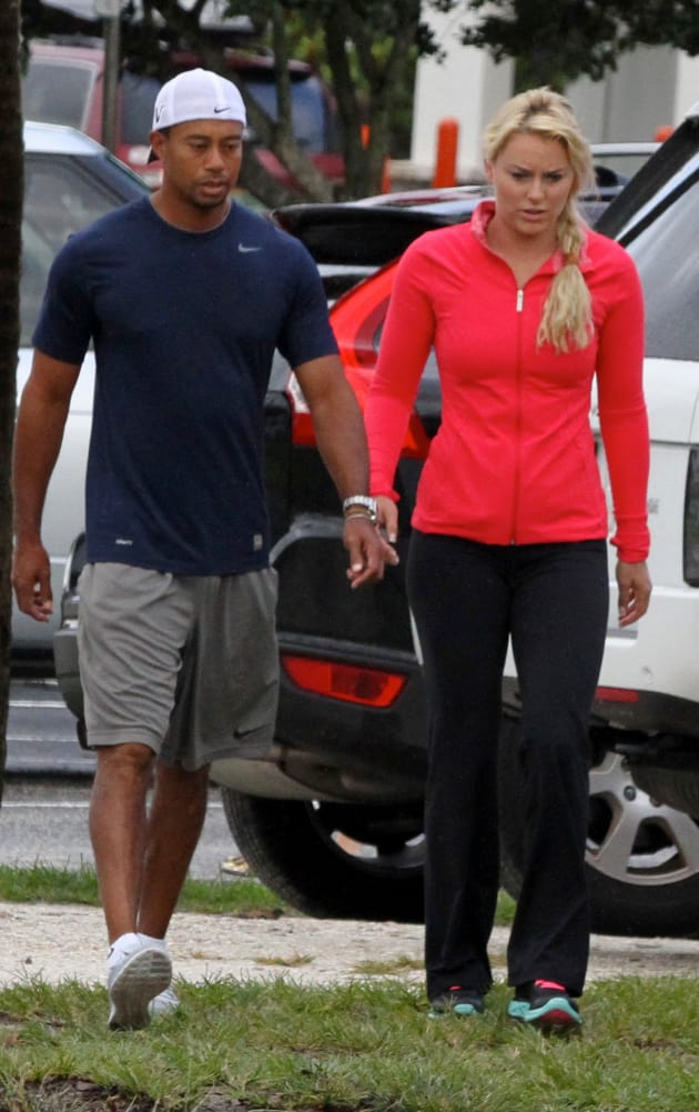 tiger woods and lindsey vonn take his kids to school the