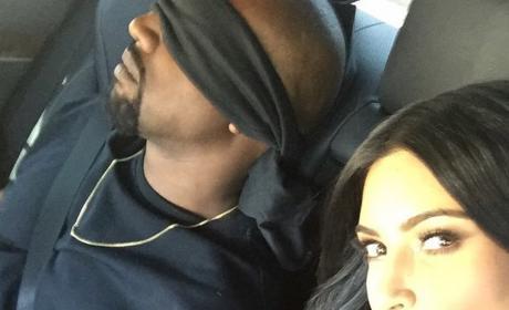 Kim Blindfolds Kanye