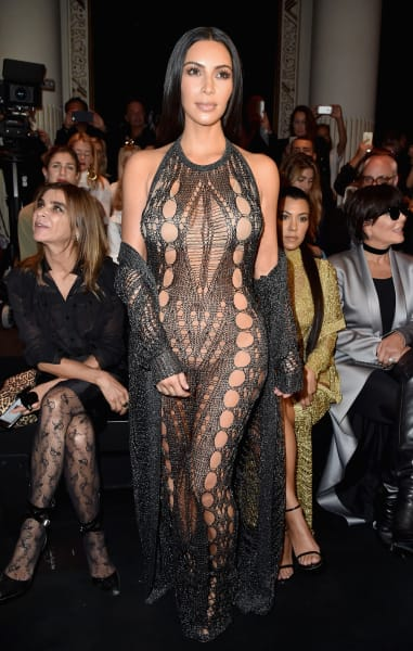 Kim Kardashian Paris Fashion Week Outfit
