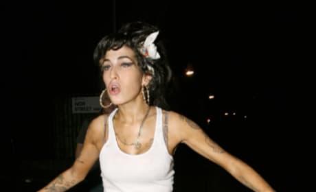 Devastated Amy Winehouse