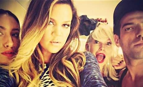 Khloe Kardashian with Friends