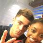 Simon Biles and Zac Efron Picture