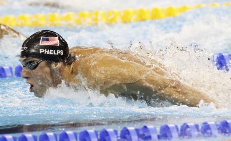Michael Phelps in the Pool