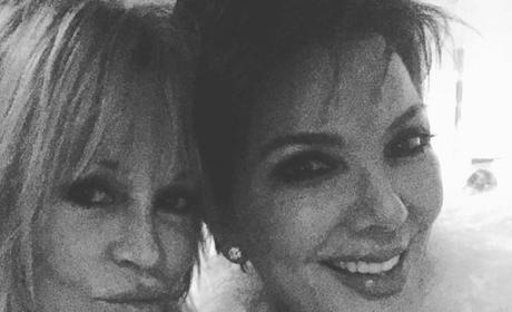 Kris Jenner and Melanie Griffith at Yeezy Season 3 show