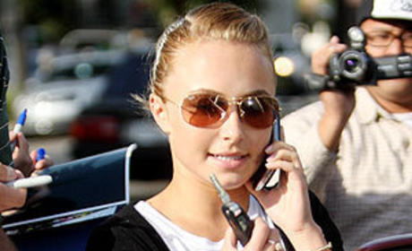 Panettiere on the Phone