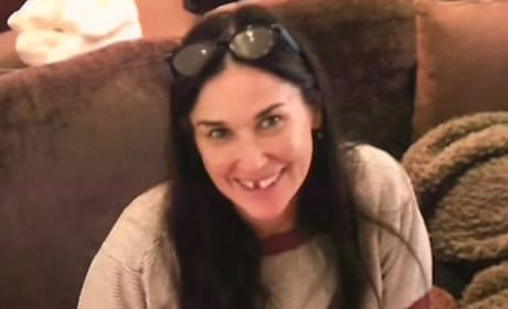 Demi Moore with No Teeth