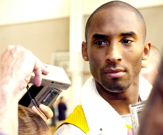 Kobe Bryant with Reporters