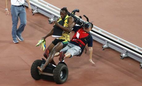 Usain Bolt: Taken Out By a Segway!