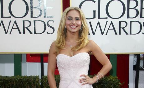 Hayden Panettiere at the Golden Globes