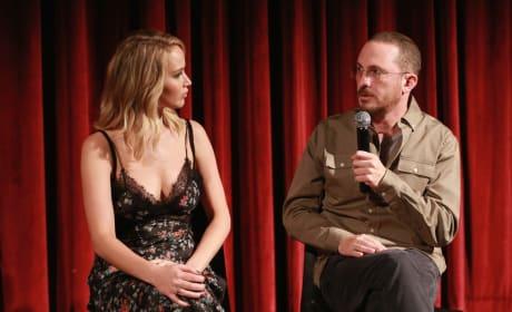 Jennfer Lawrence and Darren Aronofsky, Speaking