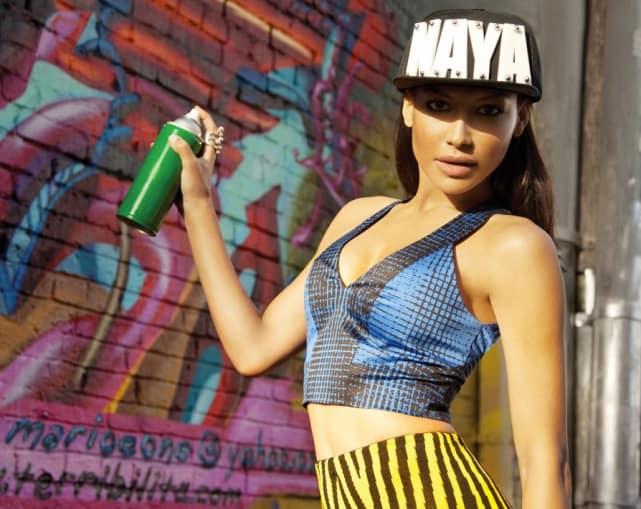 Naya Rivera Spraypainting