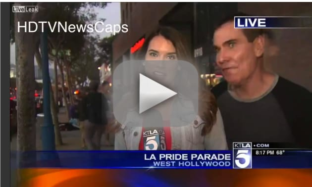 Man to Reporter: You're So Effin Hot!