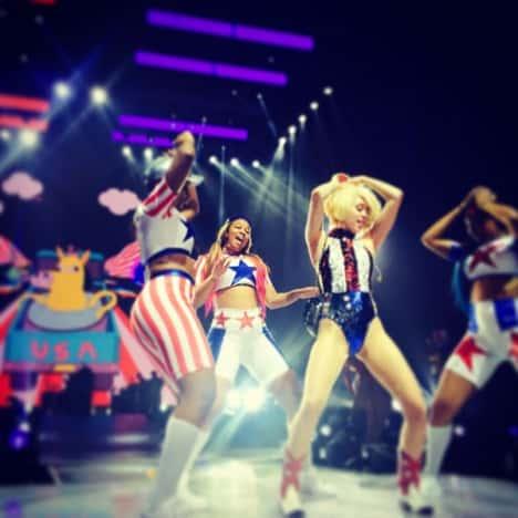 Miley Cyrus Tour Rehearsal