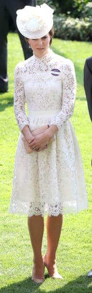 Kate Middleton Standing in White
