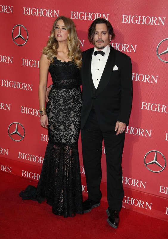 Amber Heard and Johnny Depp: 27th Annual Palm Springs International Film Festival Awards Gala
