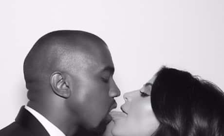 Licking Kanye West