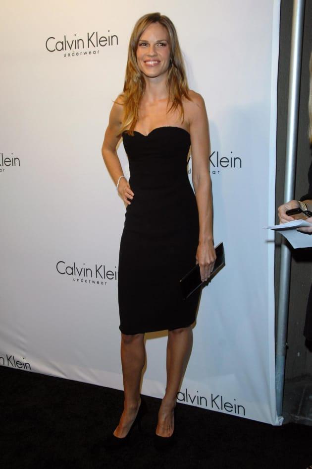Hilary Swank Little Black Dress The Hollywood Gossip