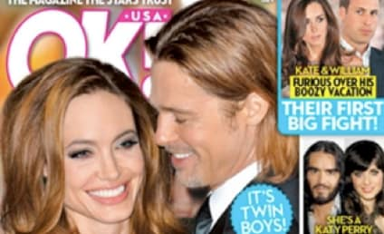 Tabloid Makes Angelina Jolie Pregnant With Twins! Both Boys! Yay!