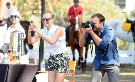 Gwyneth Paltrow Takes Pictures of Her Kids at the 6th Annual Veuve Clicquot Polo Classic