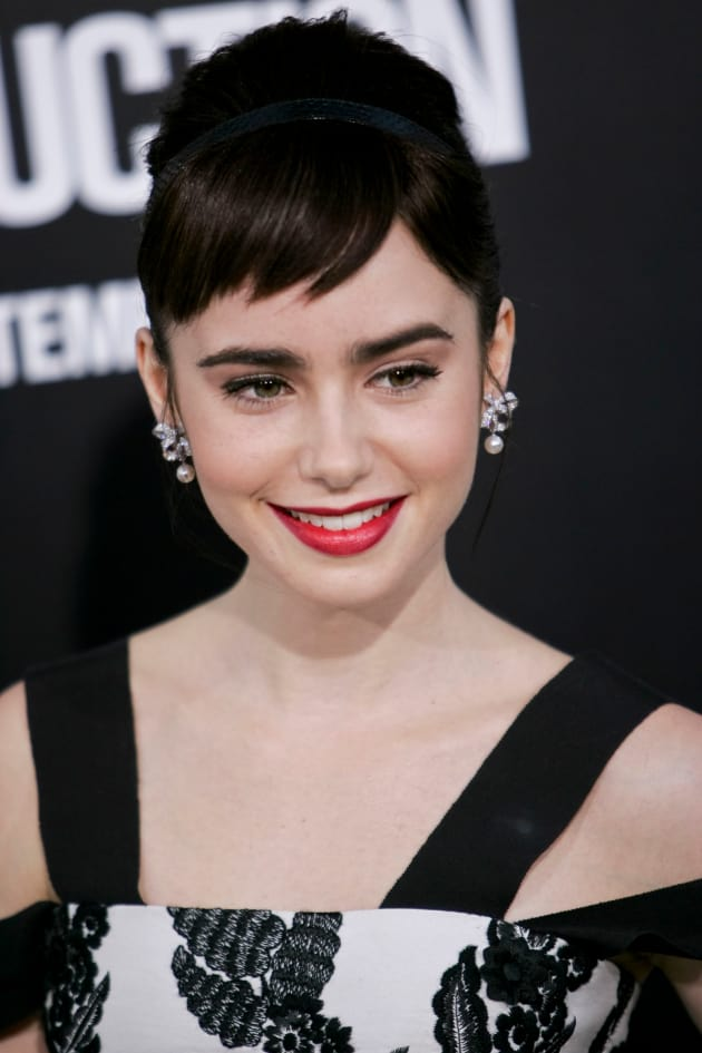 Lily Collins Movie Premiere Pic