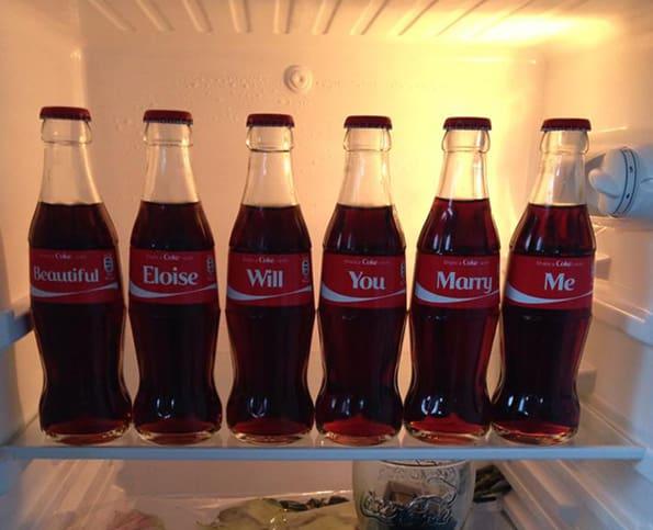 Coca-Cola Bottle Marriage Proposal