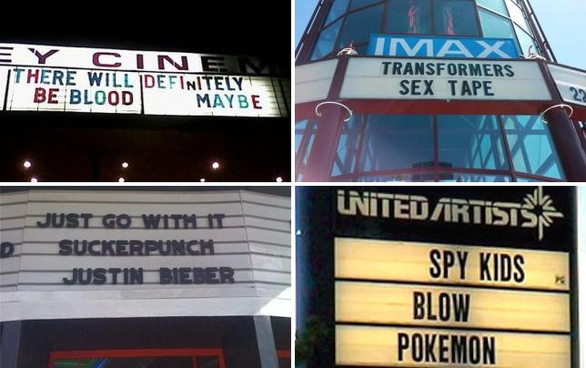 17 hilarious and inappropriate movie marquees make up your mind