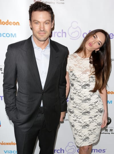 Megan Fox with tough, Husband Brian Austin Green