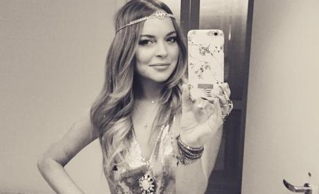 Lindsay Lohan New Year's Eve Selfie