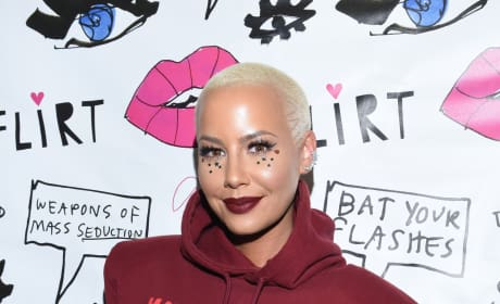 Amber Rose in a Sweatshirt
