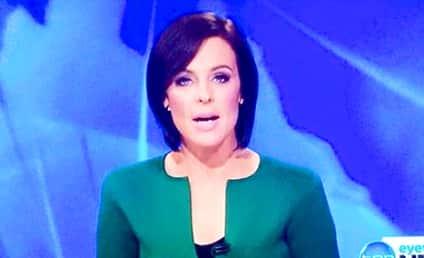 Australian Reporter's Shirt Looks Just Like a Penis!