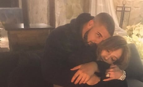 Drake and Jennifer Lopez Cuddling