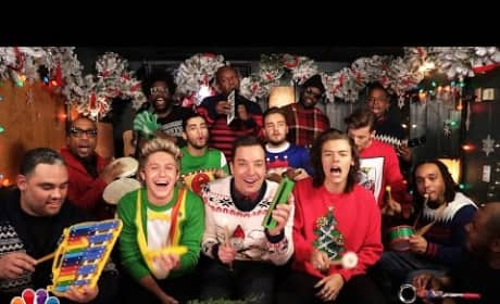 """One Direction, Jimmy Fallon: """"Santa Claus is Coming to Town"""""""