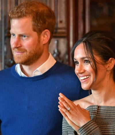 Meghan with Harry