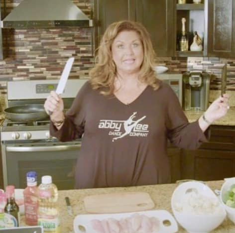 Abby Lee Miller With a Knife