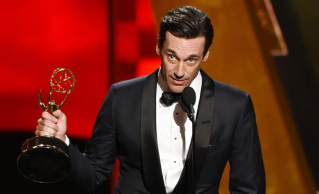 Jon Hamm Throws Shade at Jennifer Westfeldt in Emmy Acceptance Speech