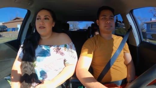 Kalani Faagata and Asuelu Pulaa drive to the hotel