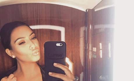 Kim Kardashian Facebook Selfie