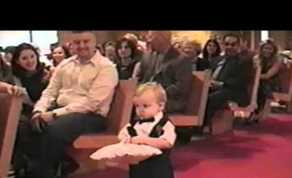 Adorable Ring Bearer Doesn't Know How to Ring Bear