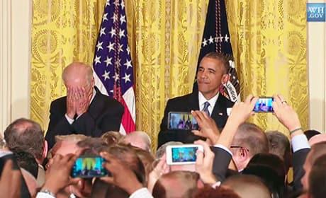 President Obama Shoots Down Heckler: Shame on You!