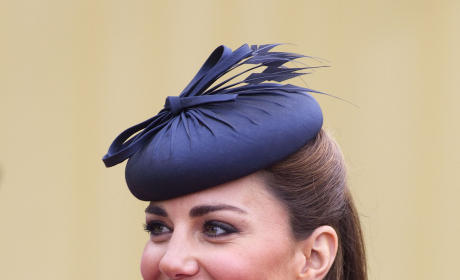 Kate Middleton in a Blue Hat